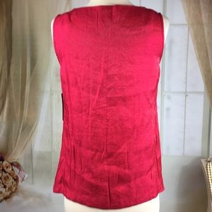 RQT Tops - RQT Cerise Sleeveless Pullover Blouse